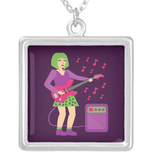 Rock Chick Silver Plated Necklace
