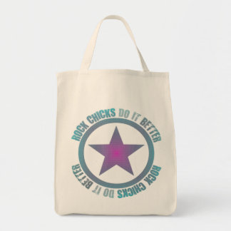 Rock Chicks Do It Better - Organic Grocery Tote