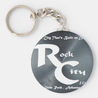 Rock City Basic Round Button Keychain