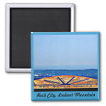 Rock City, Lookout Mountain 2 Inch Square Magnet