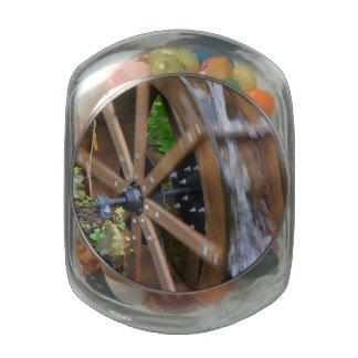 Rock City Water Wheel Jelly Belly Candy Jar