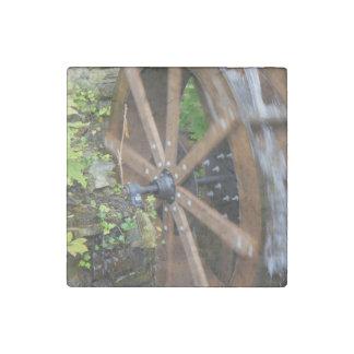Rock City Water Wheel Stone Magnet