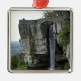 Rock City Waterfall Metal Ornament