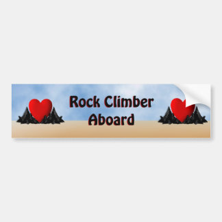 Rock Climber Aboard Bumper Sticker