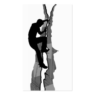Rock Climber Bouldering Bookmark Double-Sided Standard Business Cards (Pack Of 100)