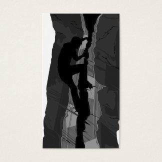 Rock Climber Bouldering Bookmark Business Card
