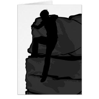 Rock Climber Bouldering Card