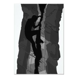 Rock Climber Bouldering RSVP Card