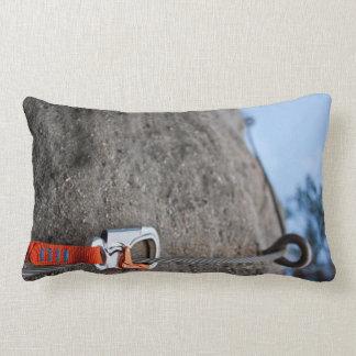 Rock Climber Carabiner Closeup Lumbar Pillow