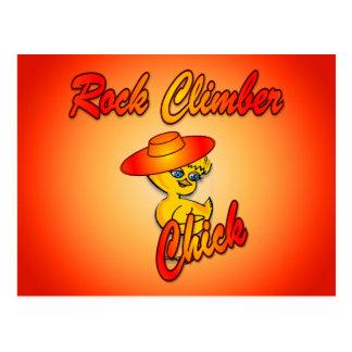 Rock Climber chick #5 Postcards
