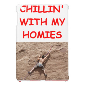 rock climber climbiing iPad mini case