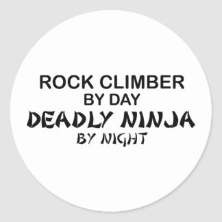 Rock Climber Deadly Ninja by Night Classic Round Sticker