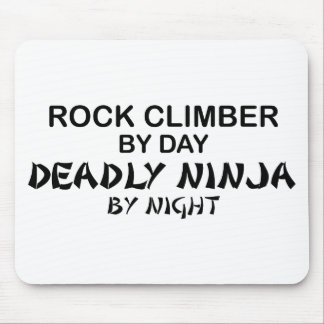 Rock Climber Deadly Ninja by Night Mouse Mat