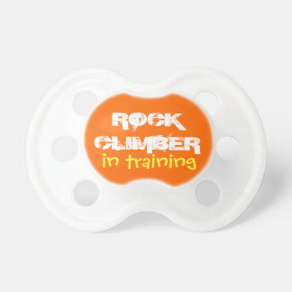 rock climber in training baby pacifiers