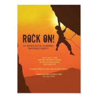 Rock Climber Invitation