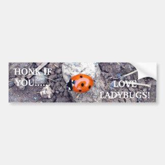 Rock Climber Ladybug Bumper Sticker