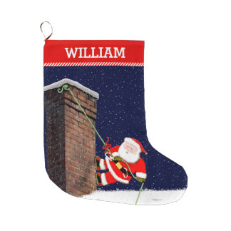 Rock Climber Large Christmas Stocking