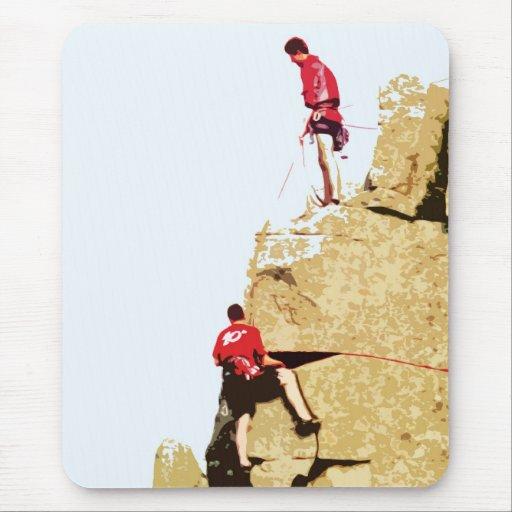 rock climber mousepads