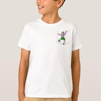 Rock Climber on Fake Pocket T-Shirt
