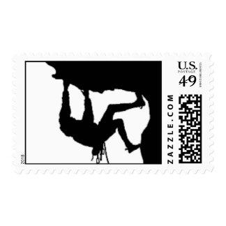 Rock Climber Postage Stamp