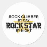 Rock Climber Rock Star by Night Sticker