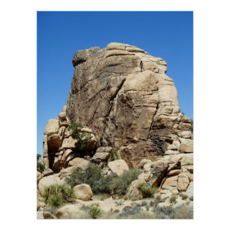 Rock Climbers at Josua Tree National Park, CA Poster