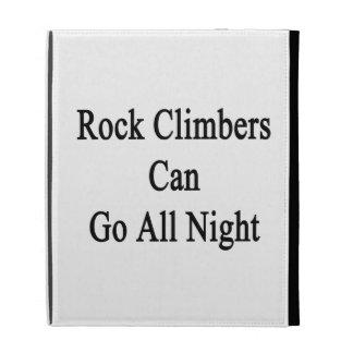 Rock Climbers Can Go All Night iPad Folio Cover