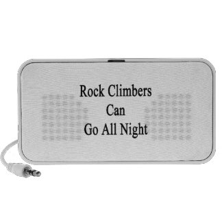Rock Climbers Can Go All Night Notebook Speakers