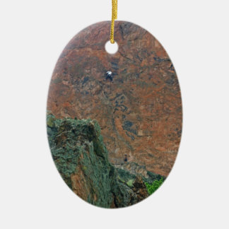 Rock Climbers Ceramic Ornament