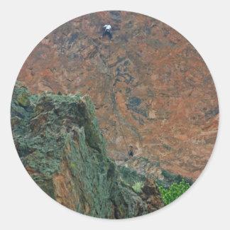 Rock Climbers Classic Round Sticker