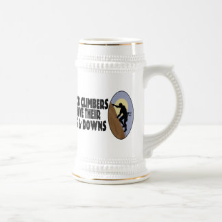 Rock Climbers Have Ups & Downs Beer Stein