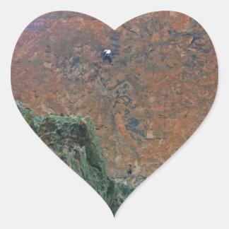 Rock Climbers Heart Sticker