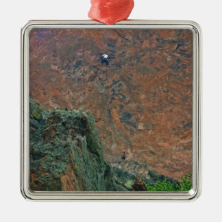 Rock Climbers Metal Ornament
