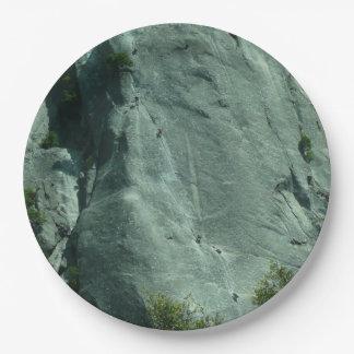 Rock Climbers on El Capitan Paper Plate