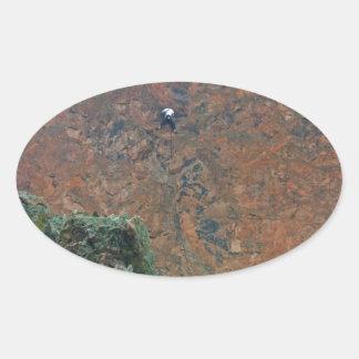 Rock Climbers Oval Sticker