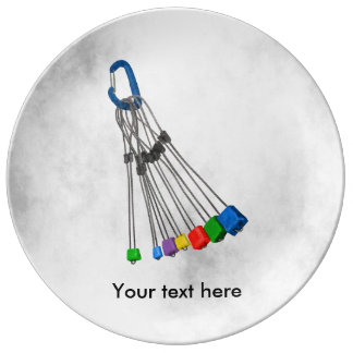 Rock Climbers Rack Of Wires Dinner Plate
