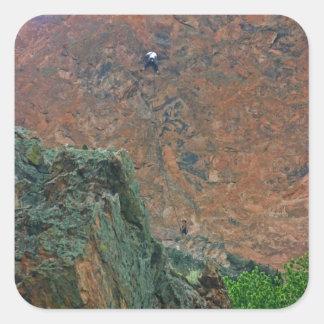 Rock Climbers Square Sticker