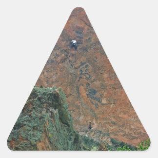 Rock Climbers Triangle Sticker
