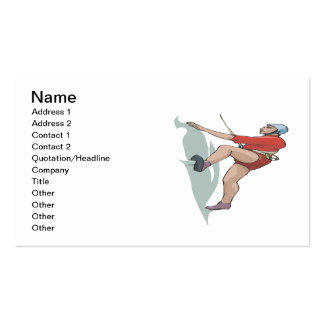 Rock Climbing 10 Double-Sided Standard Business Cards (Pack Of 100)