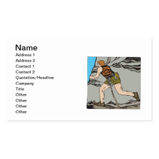 Rock Climbing 12 Double-Sided Standard Business Cards (Pack Of 100)