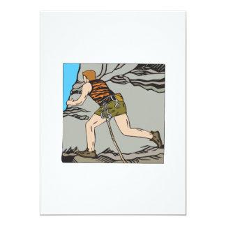 Rock Climbing 12 5x7 Paper Invitation Card