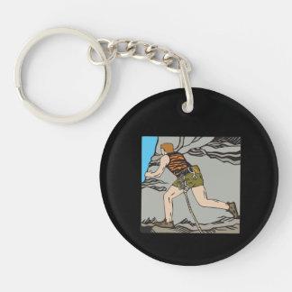 Rock Climbing 12 Single-Sided Round Acrylic Keychain