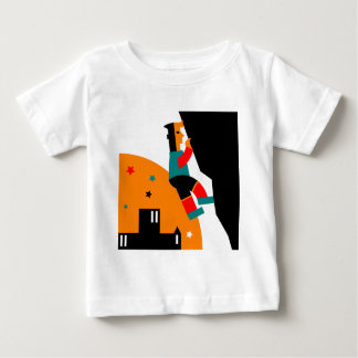 Rock Climbing Abstract Baby T-Shirt