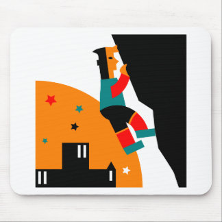 Rock Climbing Abstract Mouse Pad