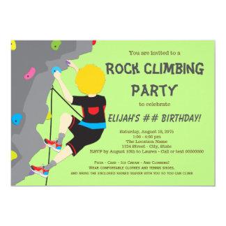 Rock Climbing Birthday Gifts On Zazzle - Birthday party invitations rock climbing