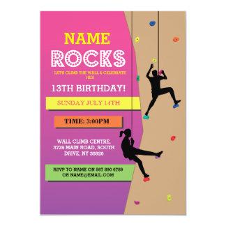 Rock Climbing Birthday Party Wall Climbing Invite