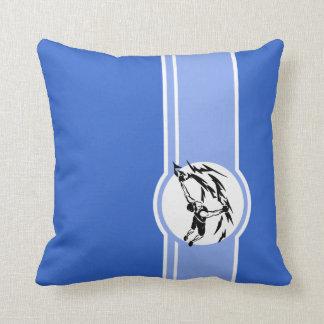 Rock Climbing; Blue Throw Pillow