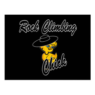 Rock Climbing Chick #4 Post Card