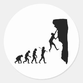 Rock Climbing Classic Round Sticker