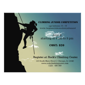 Rock Climbing competition Flyer